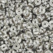 Rondela de Strass - Níquel - 6mm
