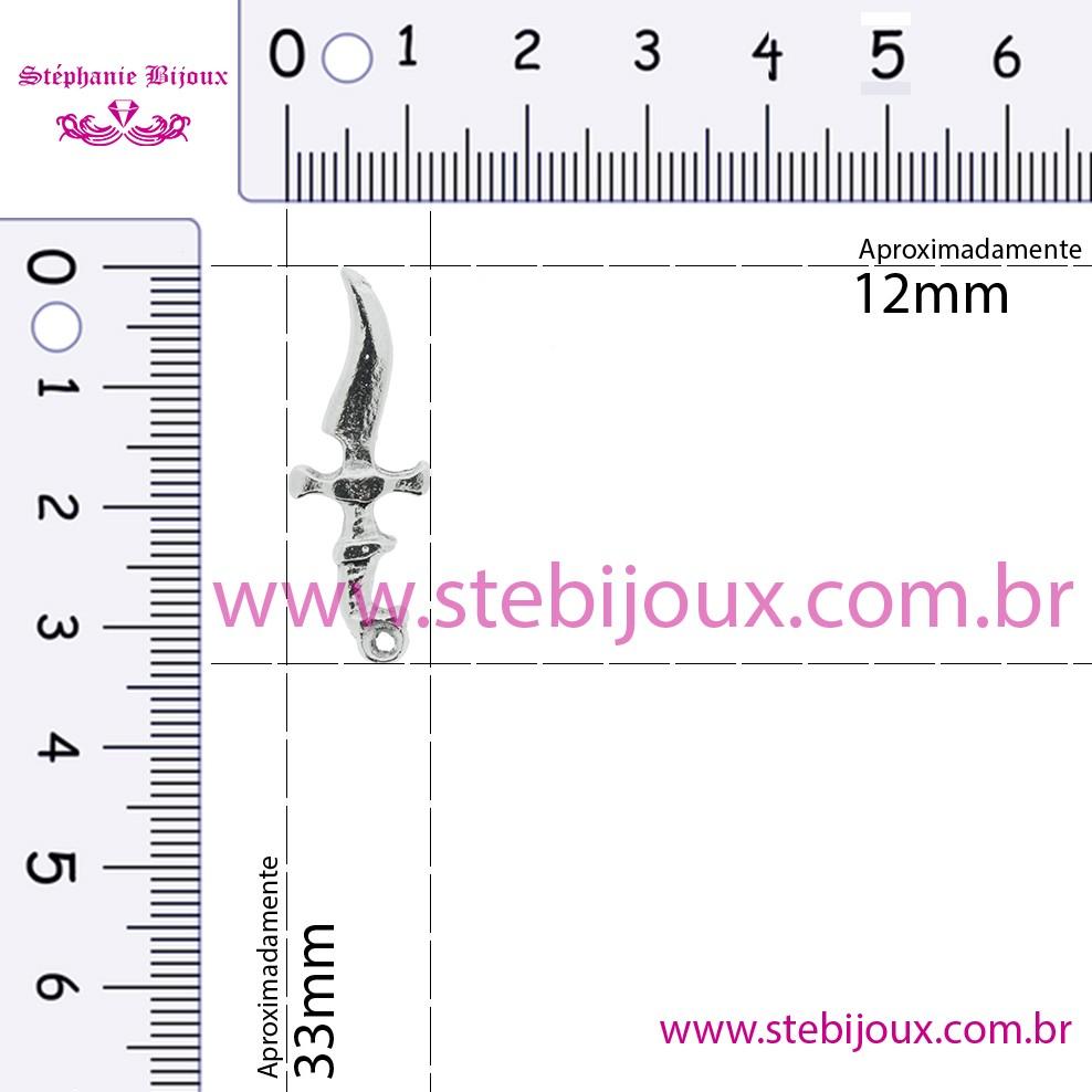 Adaga - Níquel - 33mm  - Stéphanie Bijoux® - Peças para Bijuterias e Artesanato