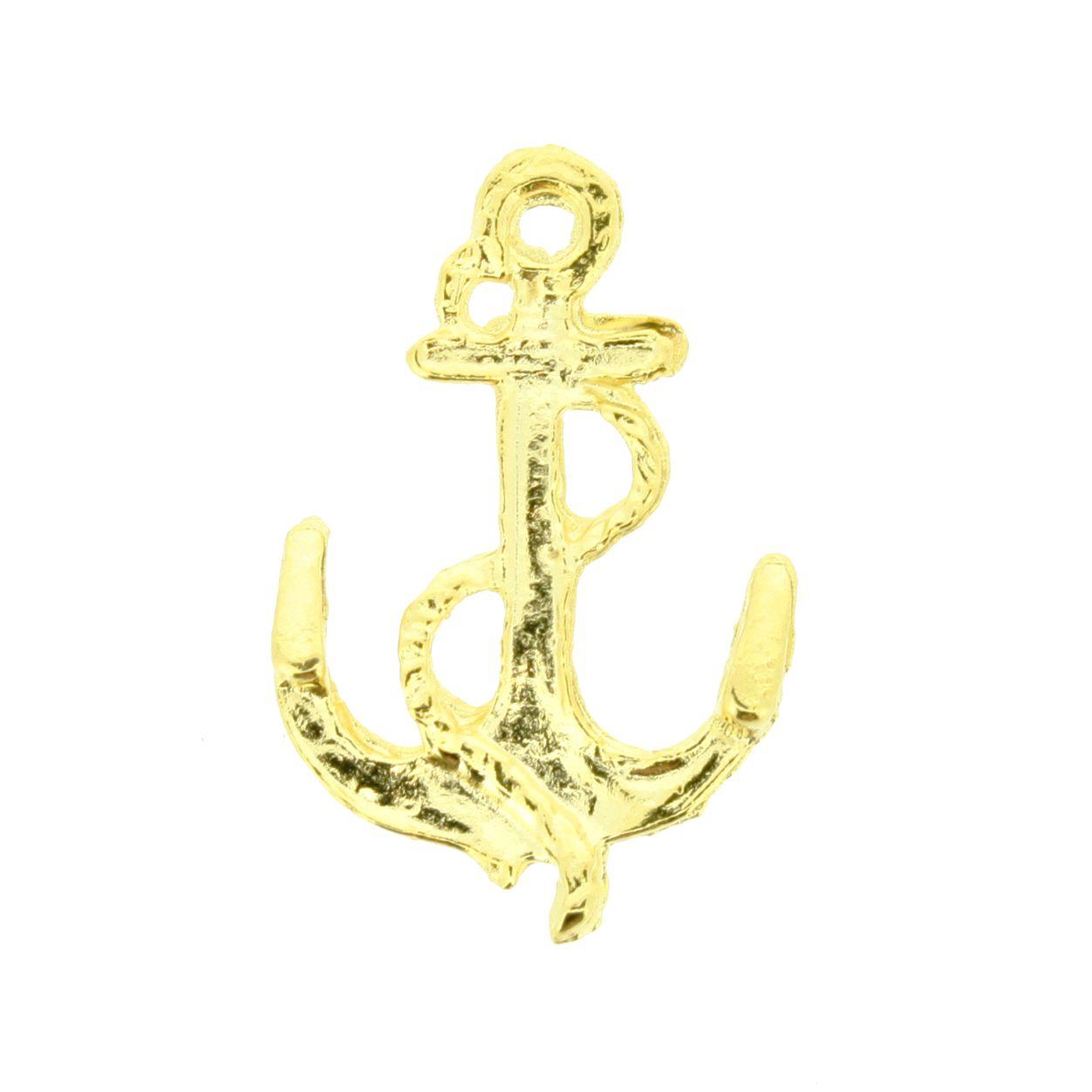 Âncora - Dourada - 27mm  - Stéphanie Bijoux® - Peças para Bijuterias e Artesanato