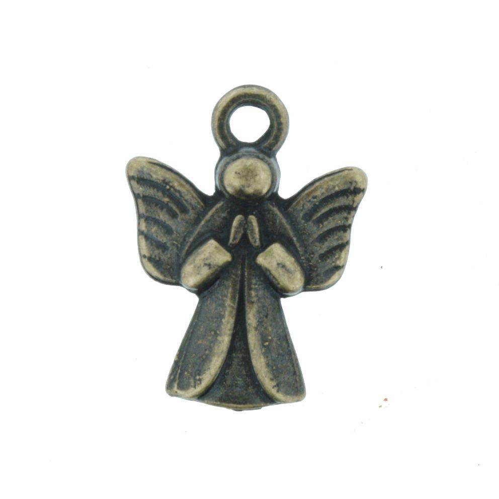 Anjo da Guarda - Ouro Velho - 19mm  - Stéphanie Bijoux® - Peças para Bijuterias e Artesanato