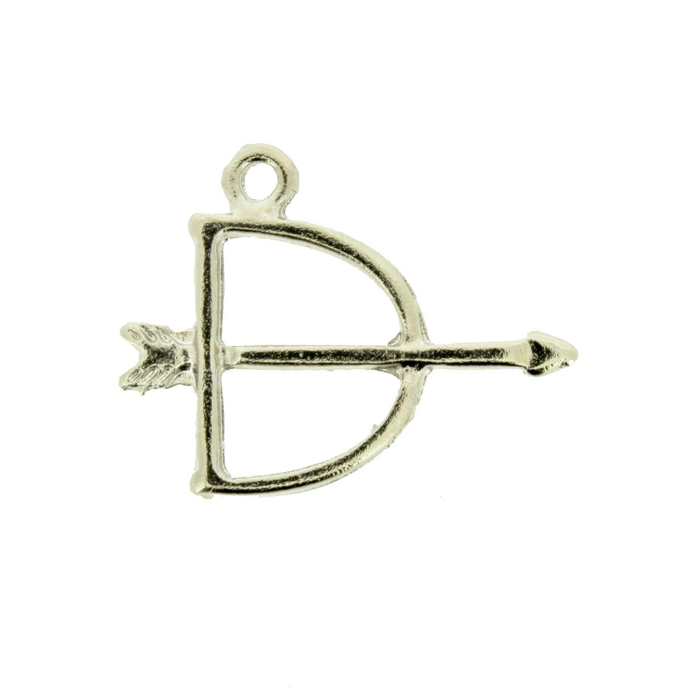 Arco e Flecha - Níquel - 19mm - 01 Peça  - Stéphanie Bijoux® - Peças para Bijuterias e Artesanato