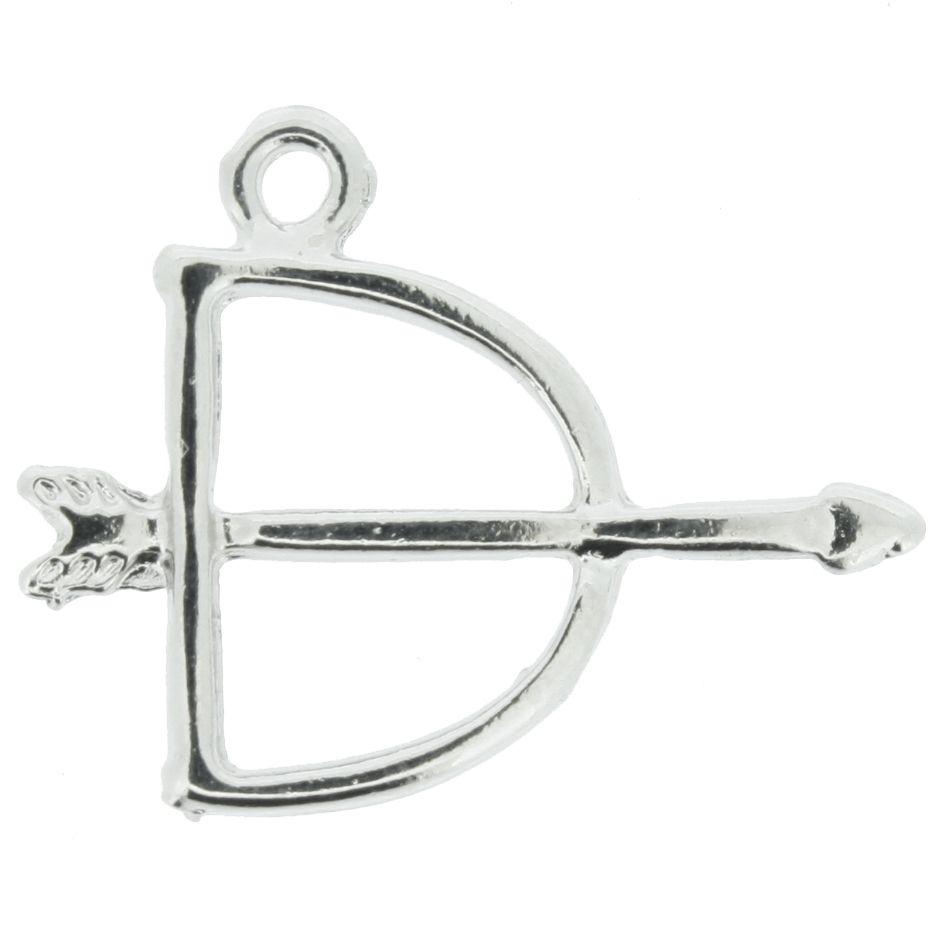 Arco e Flecha - Níquel - 20mm - 01 Peça  - Stéphanie Bijoux® - Peças para Bijuterias e Artesanato