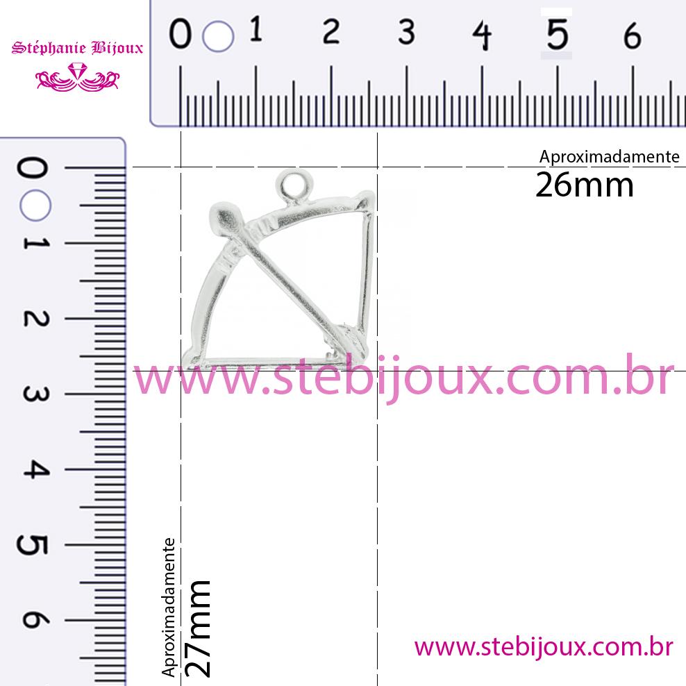 Arco e Flecha - Níquel - 27mm  - Stéphanie Bijoux® - Peças para Bijuterias e Artesanato