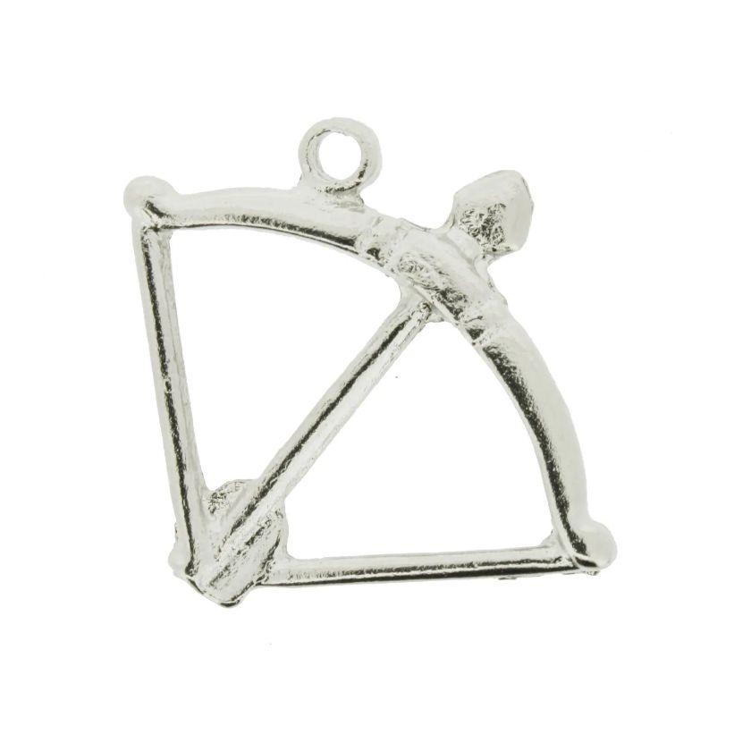 Arco e Flecha - Níquel - 35mm  - Stéphanie Bijoux® - Peças para Bijuterias e Artesanato