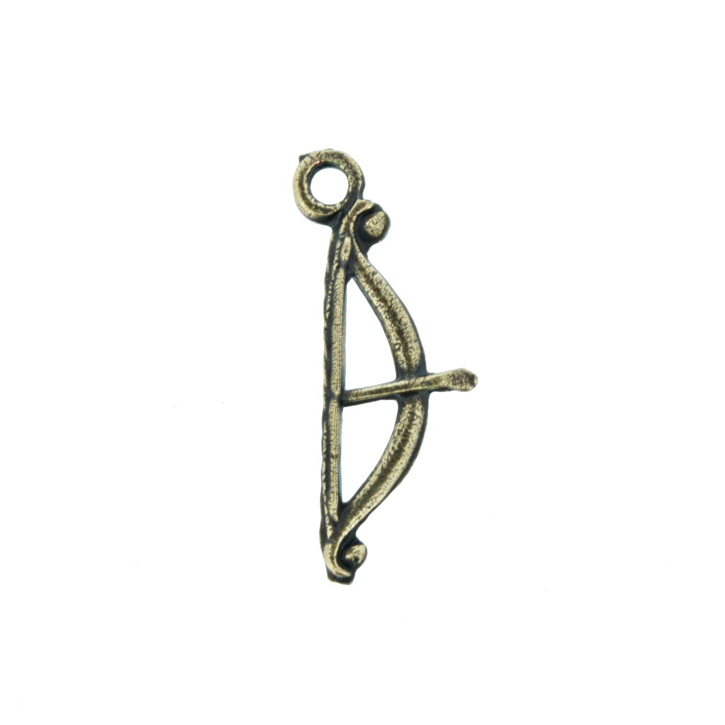 Arco e Flecha - Ouro Velho - 25mm  - Stéphanie Bijoux® - Peças para Bijuterias e Artesanato