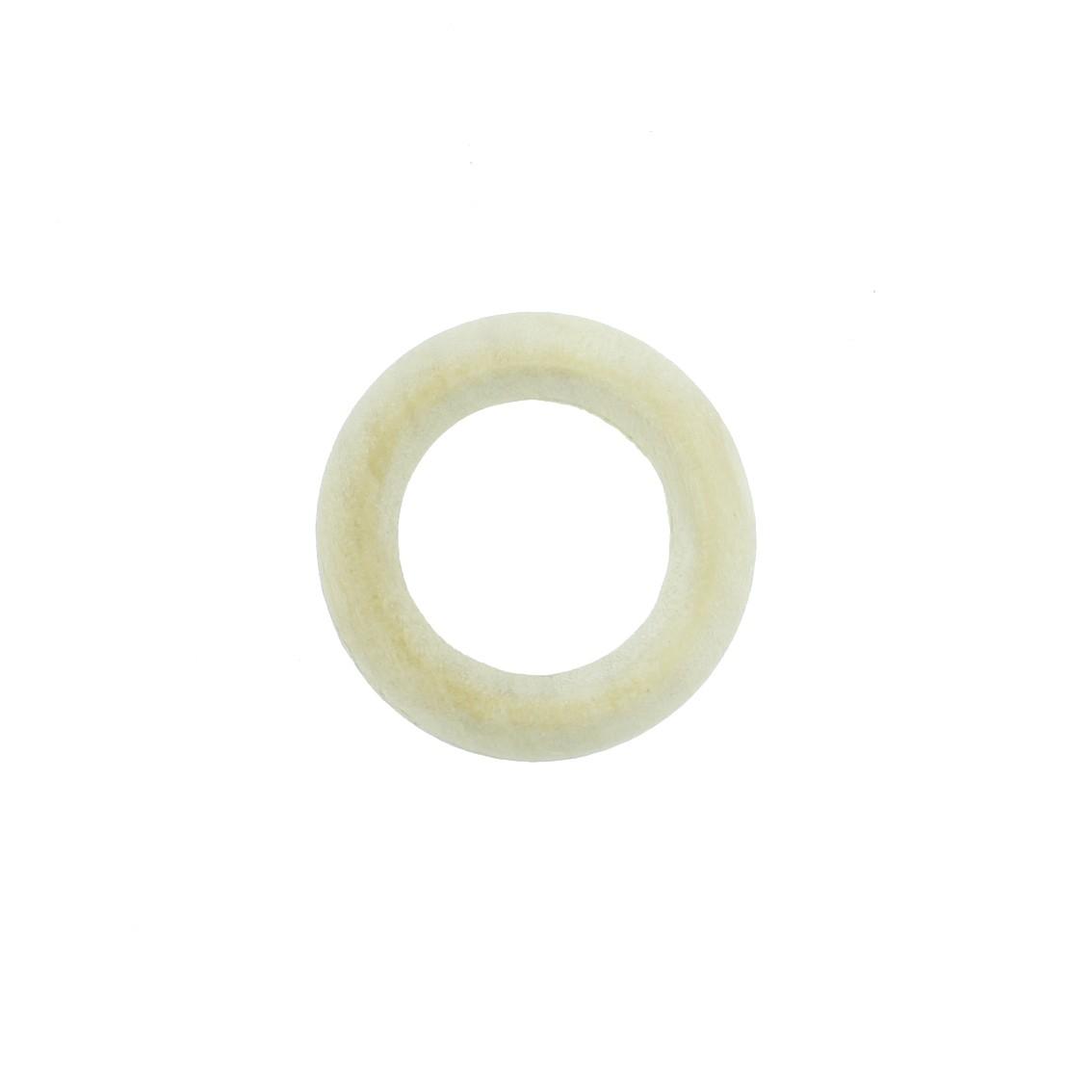 Argola de Madeira - 32mm - Marfim  - Stéphanie Bijoux® - Peças para Bijuterias e Artesanato