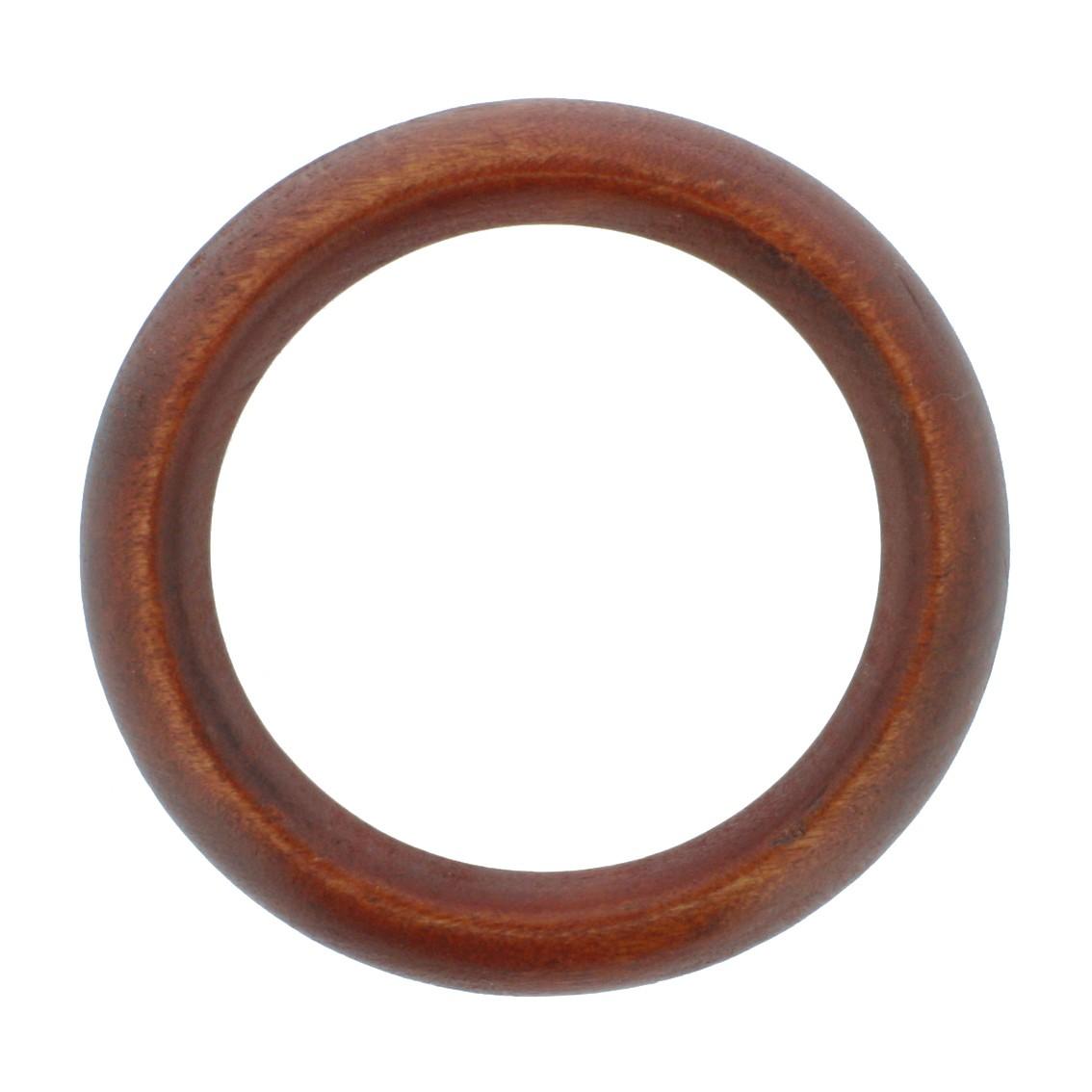 Argola de Madeira - 68mm - Mogno  - Stéphanie Bijoux® - Peças para Bijuterias e Artesanato