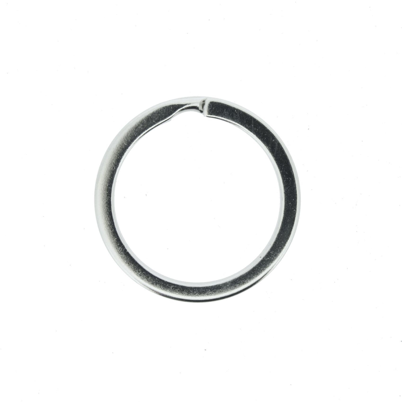 Argola p/ Chaveiro Italiana - Reforçada Níquel - 25mm  - Stéphanie Bijoux® - Peças para Bijuterias e Artesanato