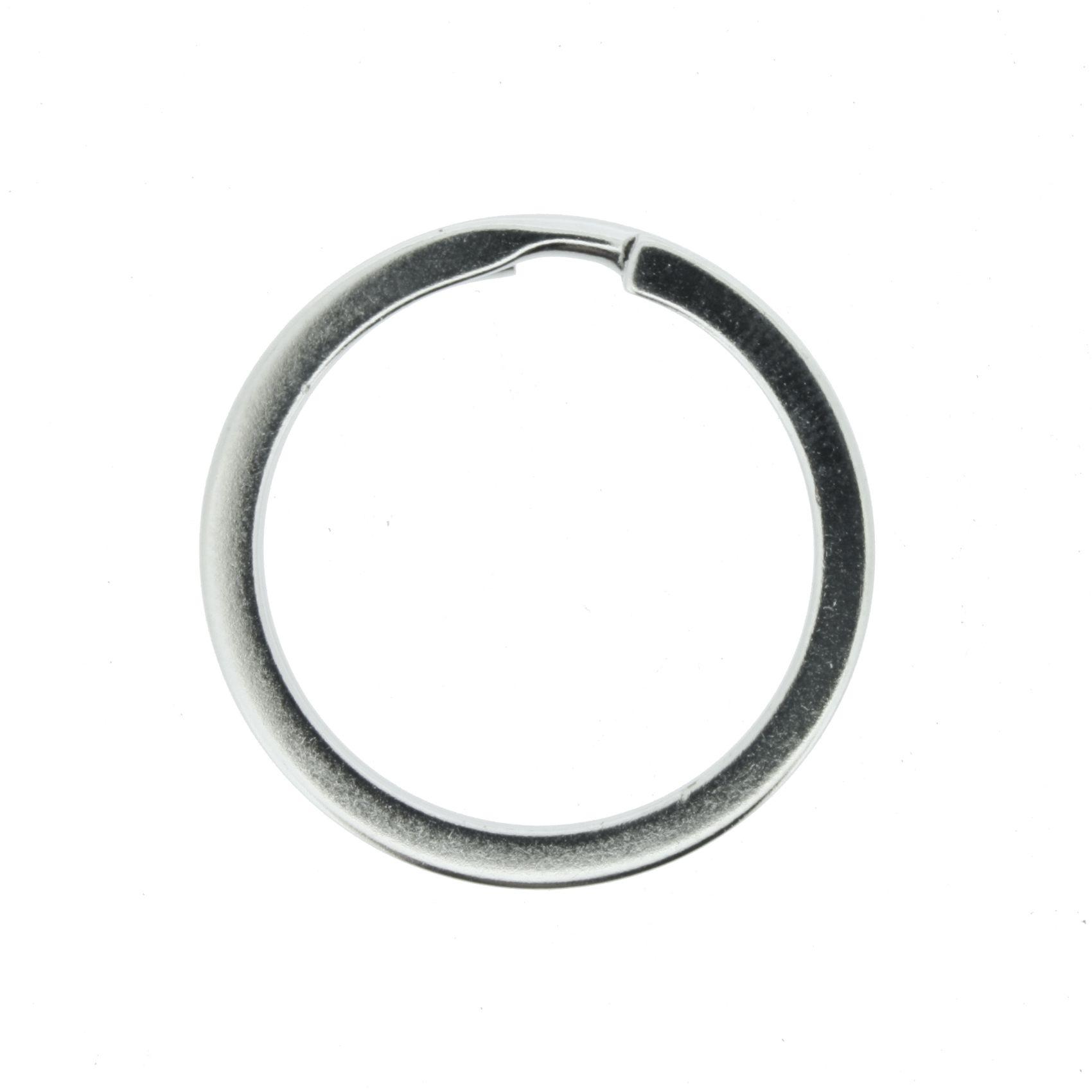 Argola p/ Chaveiro Italiana - Reforçada Níquel - 30mm  - Stéphanie Bijoux® - Peças para Bijuterias e Artesanato
