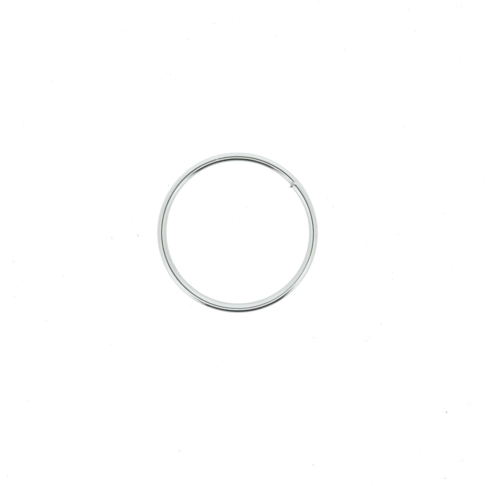 Argola p/ Chaveiro - Níquel - 16mm  - Stéphanie Bijoux® - Peças para Bijuterias e Artesanato
