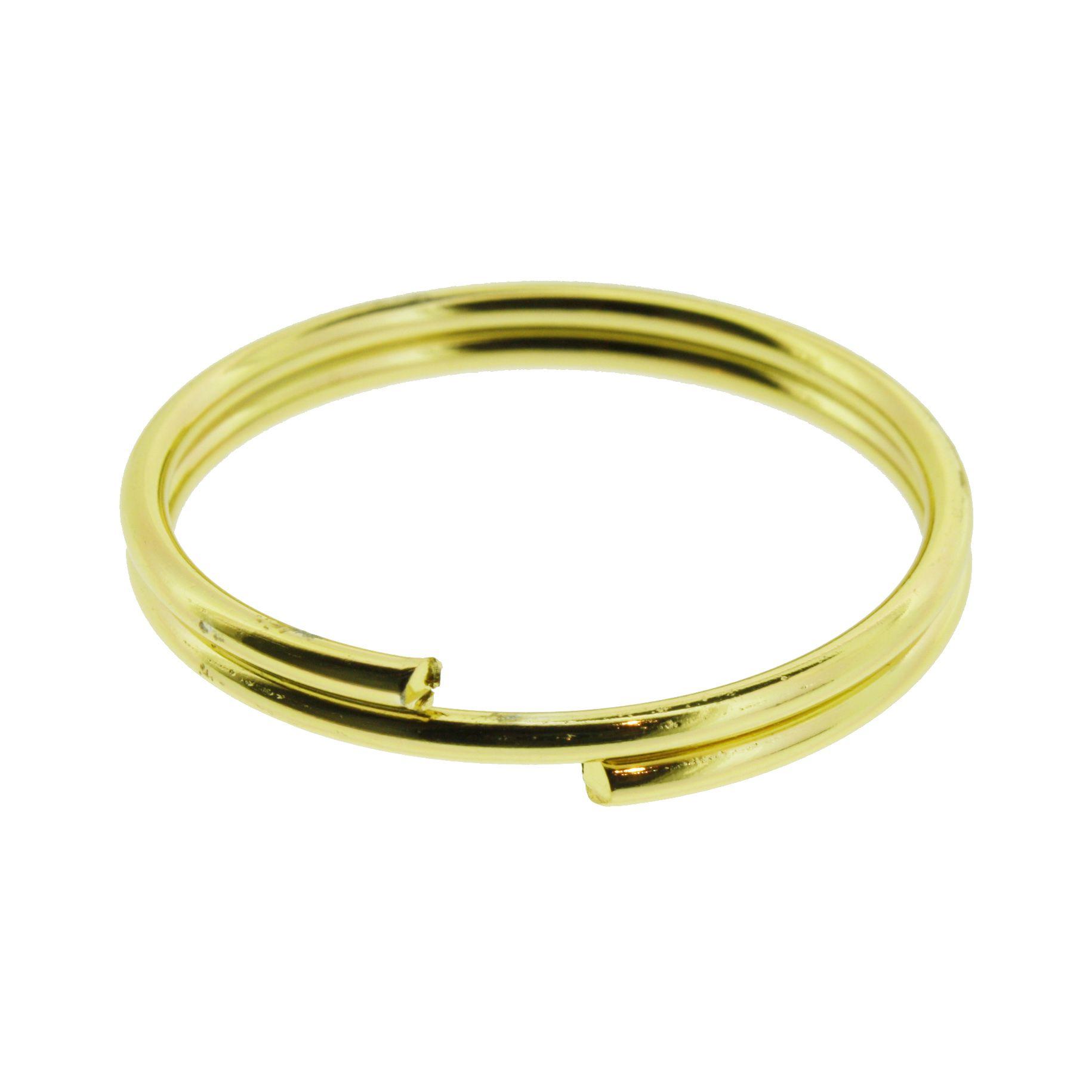 Argola p/ Porta Guardanapo - Dourada - Dupla  - Stéphanie Bijoux® - Peças para Bijuterias e Artesanato