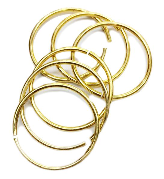 Argola p/ Porta Guardanapo - Dourada - Simples  - Stéphanie Bijoux® - Peças para Bijuterias e Artesanato