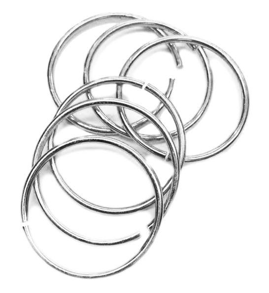 Argola p/ Porta Guardanapo - Níquel - Simples  - Stéphanie Bijoux® - Peças para Bijuterias e Artesanato