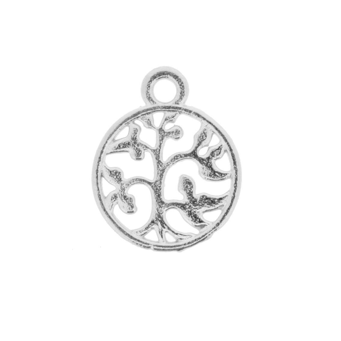 Árvore da Vida - Níquel - 18mm  - Stéphanie Bijoux® - Peças para Bijuterias e Artesanato