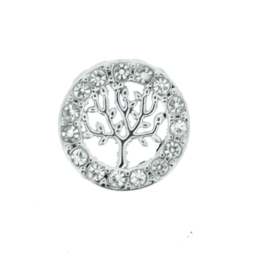 Árvore da Vida - Níquel com Strass - 12mm  - Stéphanie Bijoux® - Peças para Bijuterias e Artesanato