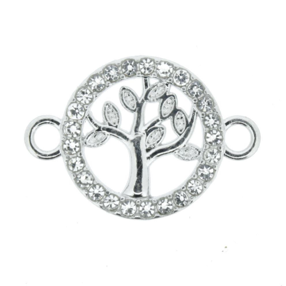 Árvore da Vida - Níquel com Strass - 16mm  - Stéphanie Bijoux® - Peças para Bijuterias e Artesanato