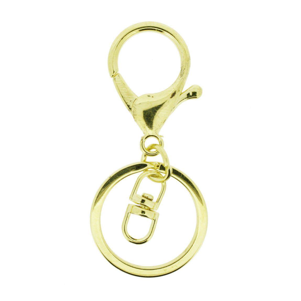 Base para Chaveiro - Dourado  - Stéphanie Bijoux® - Peças para Bijuterias e Artesanato