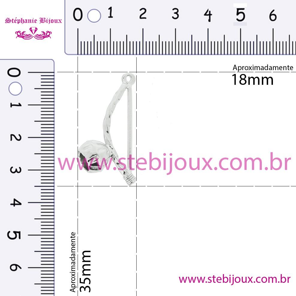 Berimbau - Níquel - 35mm  - Stéphanie Bijoux® - Peças para Bijuterias e Artesanato