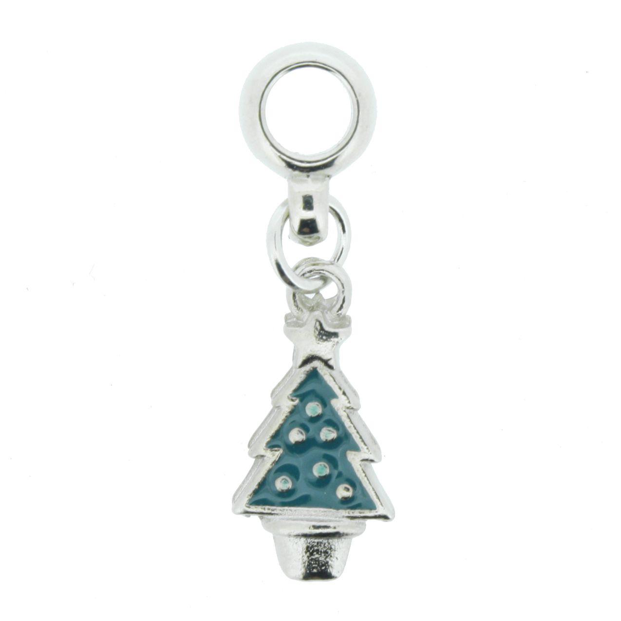 Berloque - Árvore de Natal - Níquel  - Stéphanie Bijoux® - Peças para Bijuterias e Artesanato