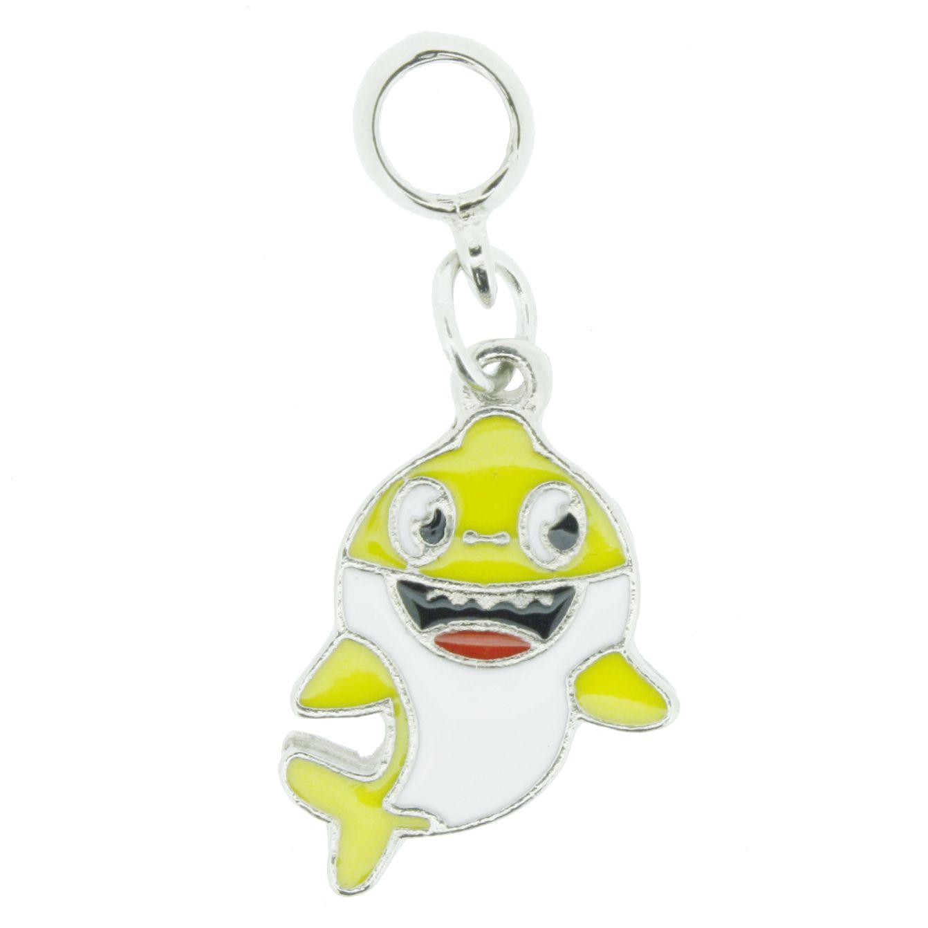 Berloque - Baby Shark Amarelo - Níquel  - Stéphanie Bijoux® - Peças para Bijuterias e Artesanato