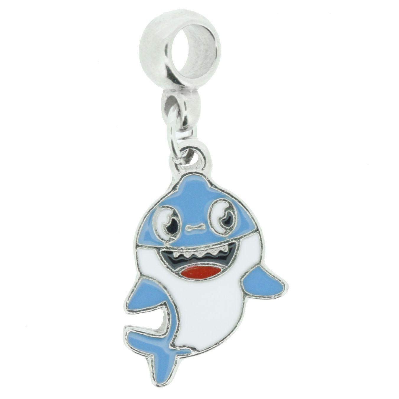 Berloque - Baby Shark Azul - Níquel  - Stéphanie Bijoux® - Peças para Bijuterias e Artesanato