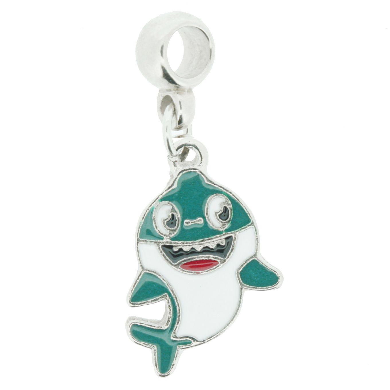Berloque - Baby Shark Verde - Níquel  - Stéphanie Bijoux® - Peças para Bijuterias e Artesanato