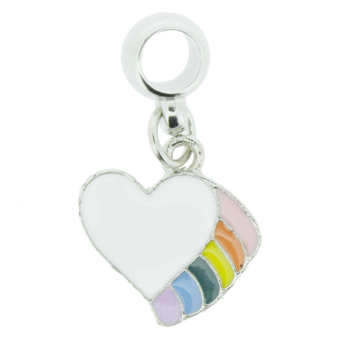 Berloque - Coração Colors - Níquel  - Stéphanie Bijoux® - Peças para Bijuterias e Artesanato