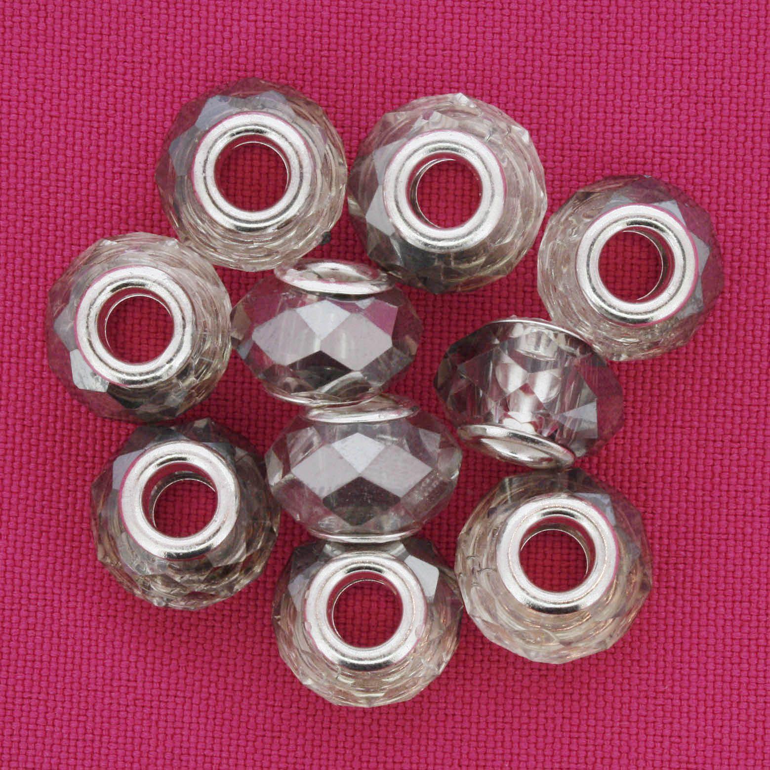 Berloque Crystal® - Fumê - Níquel  - Stéphanie Bijoux® - Peças para Bijuterias e Artesanato