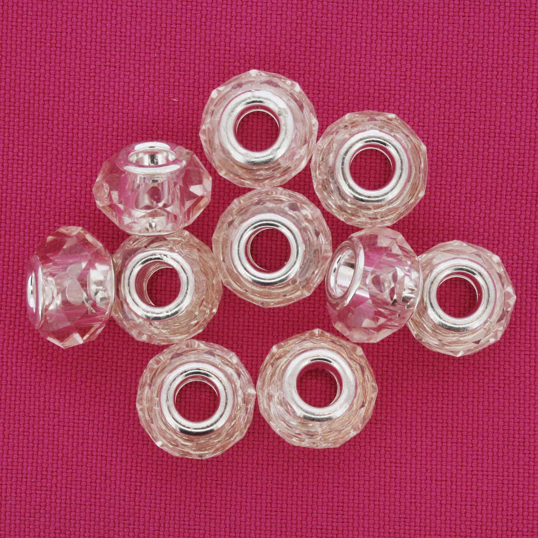 Berloque Crystal® - Rosa Claro Transparente - Níquel  - Stéphanie Bijoux® - Peças para Bijuterias e Artesanato