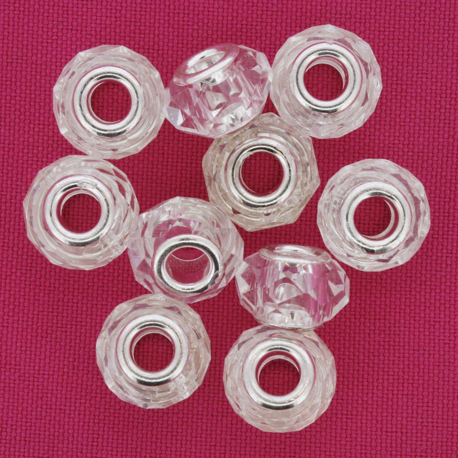 Berloque Crystal® - Transparente - Níquel  - Stéphanie Bijoux® - Peças para Bijuterias e Artesanato