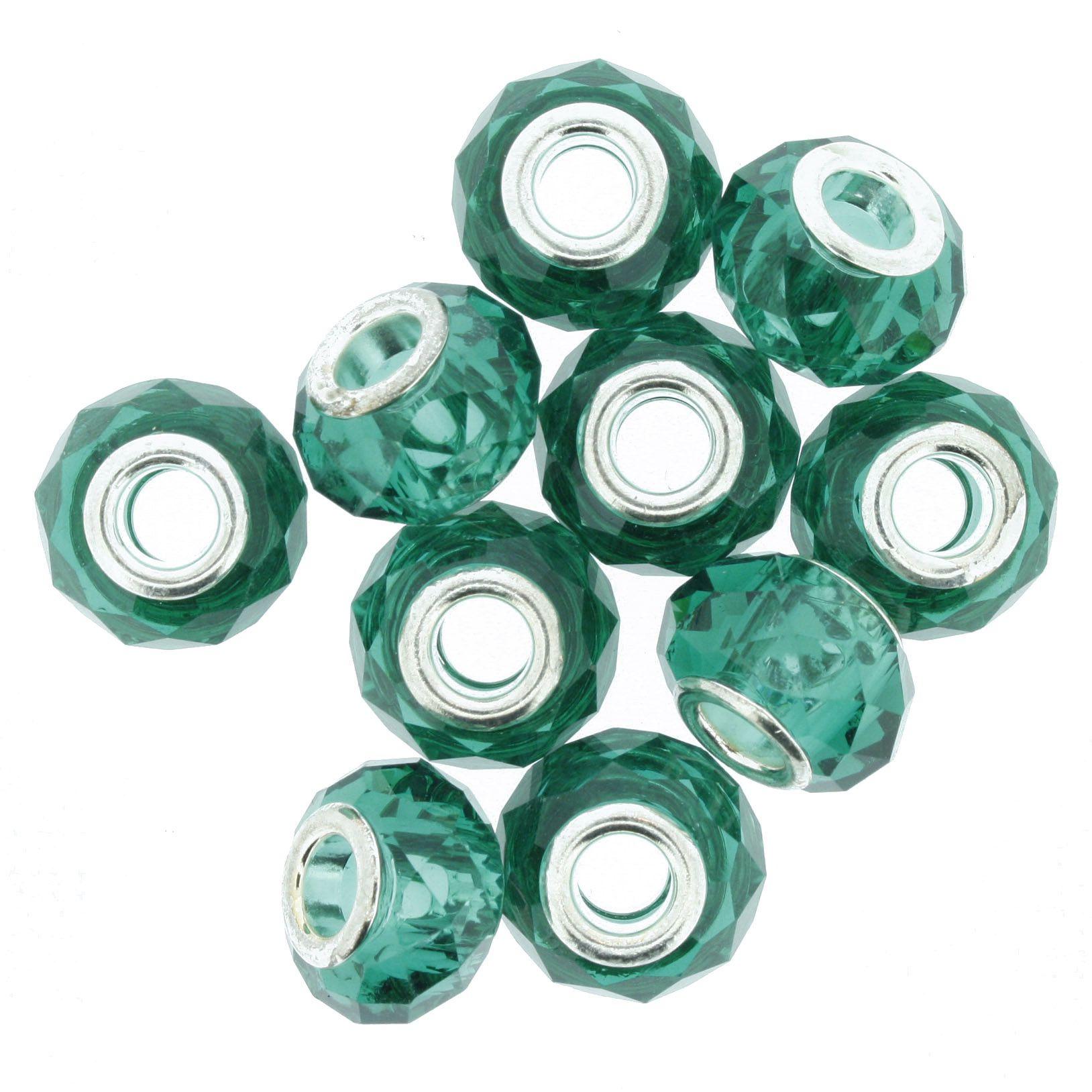 Berloque Crystal® - Turquesa Transparente - Níquel  - Stéphanie Bijoux® - Peças para Bijuterias e Artesanato