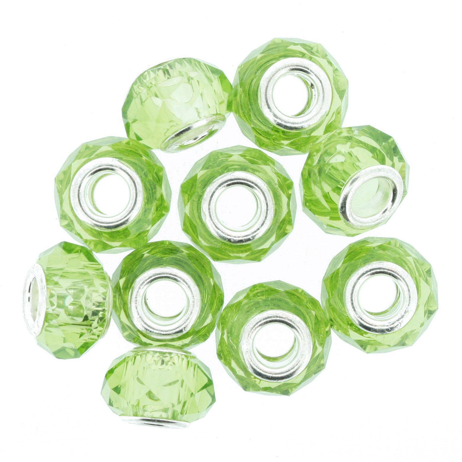 Berloque Crystal® - Verde Claro Transparente - Níquel  - Stéphanie Bijoux® - Peças para Bijuterias e Artesanato
