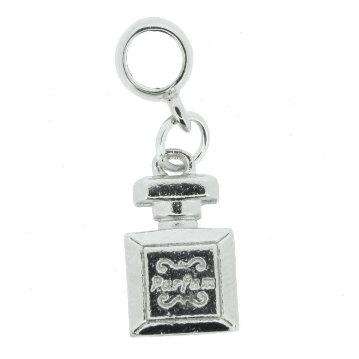 Berloque - Frasco de Perfume - Níquel  - Stéphanie Bijoux® - Peças para Bijuterias e Artesanato
