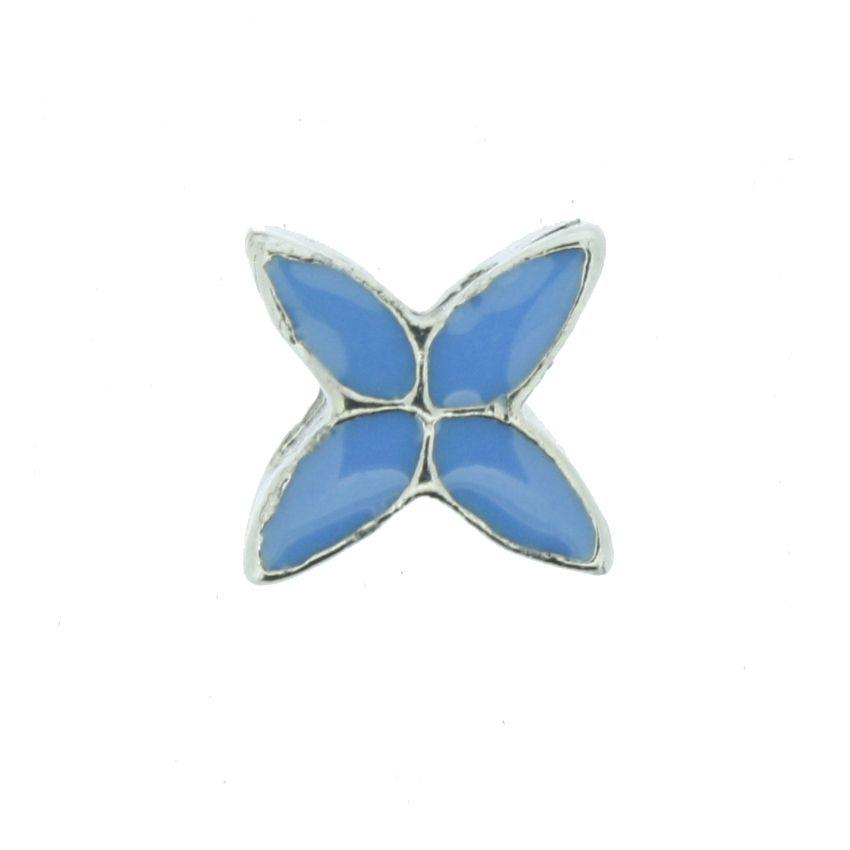 Berloque - Lírio Azul - Níquel  - Stéphanie Bijoux® - Peças para Bijuterias e Artesanato