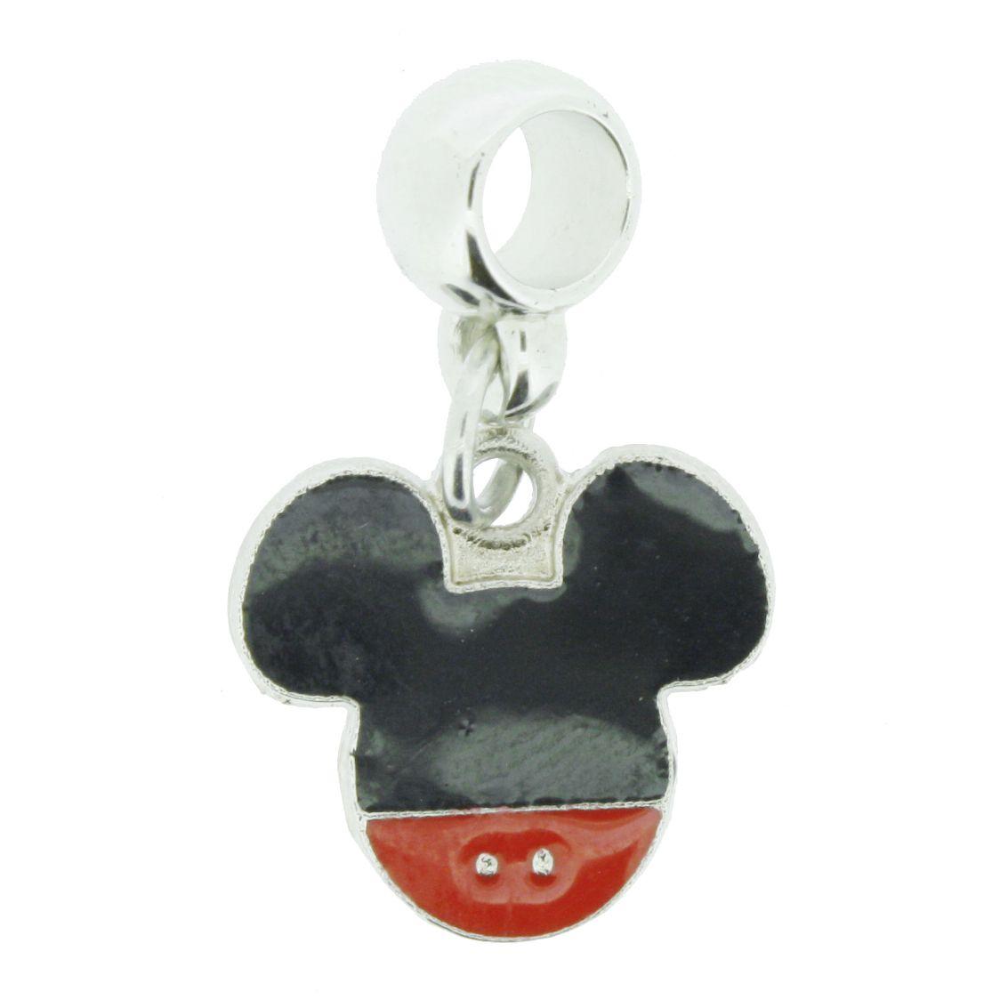 Berloque - Mickey Mouse - Níquel  - Stéphanie Bijoux® - Peças para Bijuterias e Artesanato