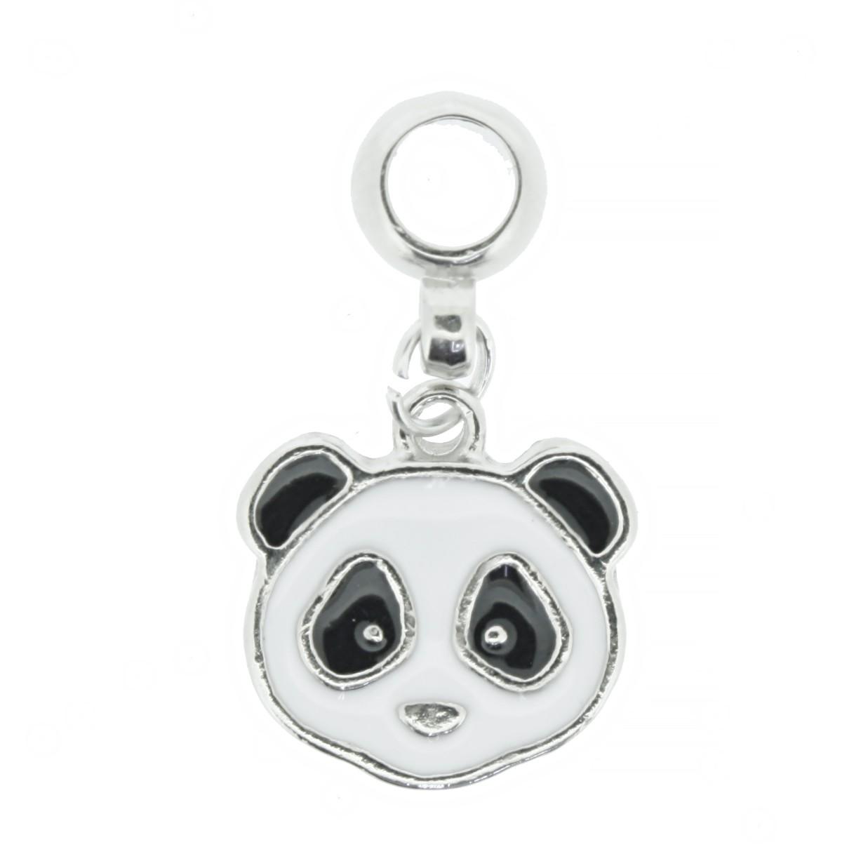 Berloque - Panda - Níquel  - Stéphanie Bijoux® - Peças para Bijuterias e Artesanato