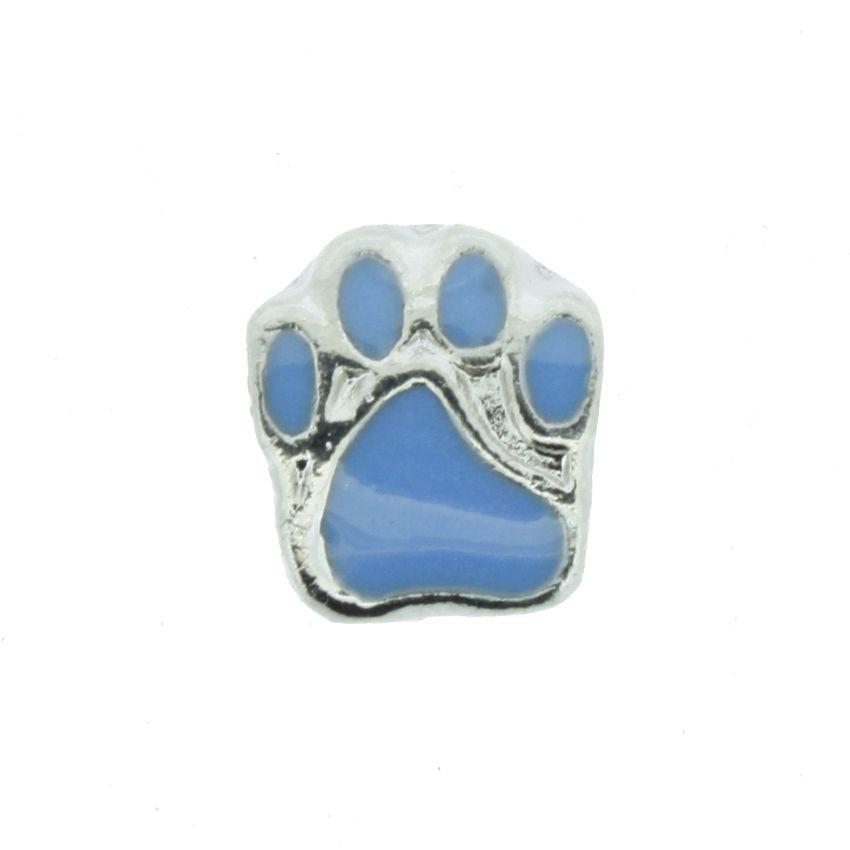 Berloque - Pata Cachorro Azul - Níquel  - Stéphanie Bijoux® - Peças para Bijuterias e Artesanato