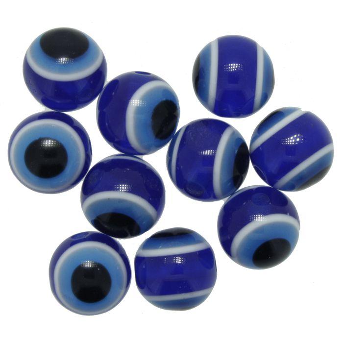 Bolinha - Olho Grego - 10mm  - Stéphanie Bijoux® - Peças para Bijuterias e Artesanato