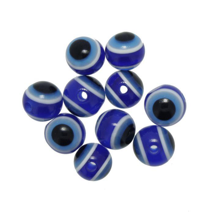 Bolinha - Olho Grego - 8mm  - Stéphanie Bijoux® - Peças para Bijuterias e Artesanato