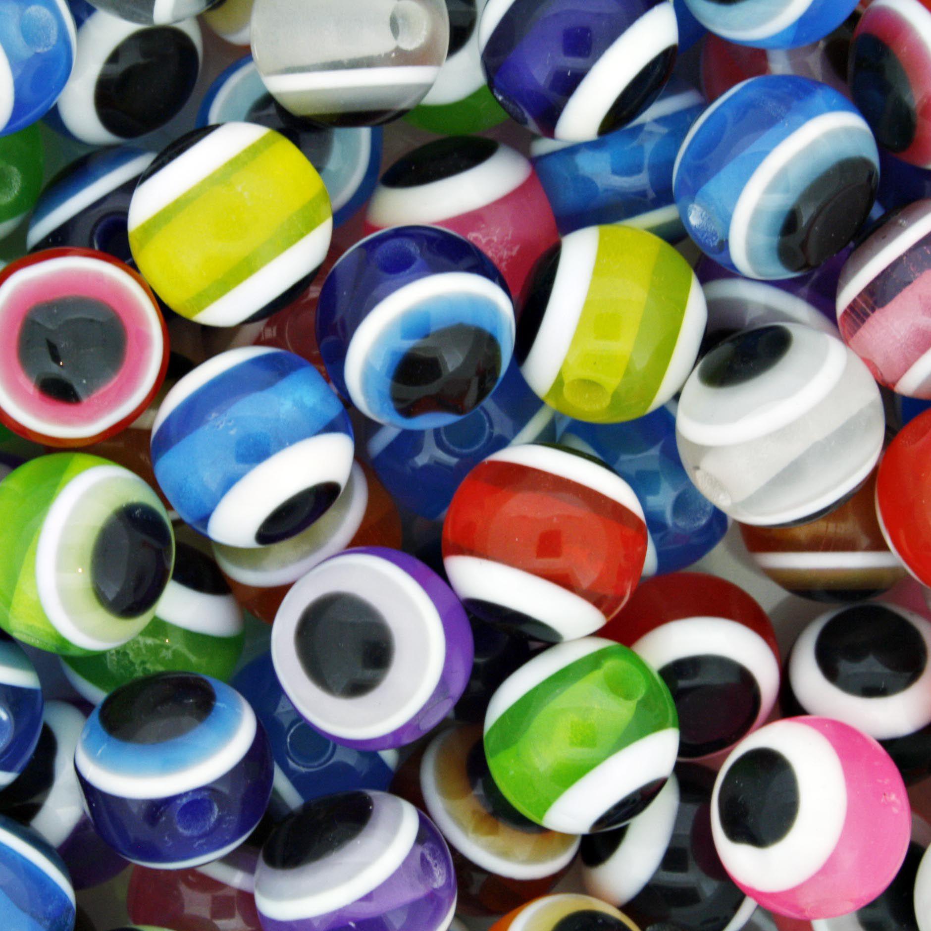 Bolinha - Olho Grego - Colorido - 10mm  - Stéphanie Bijoux® - Peças para Bijuterias e Artesanato