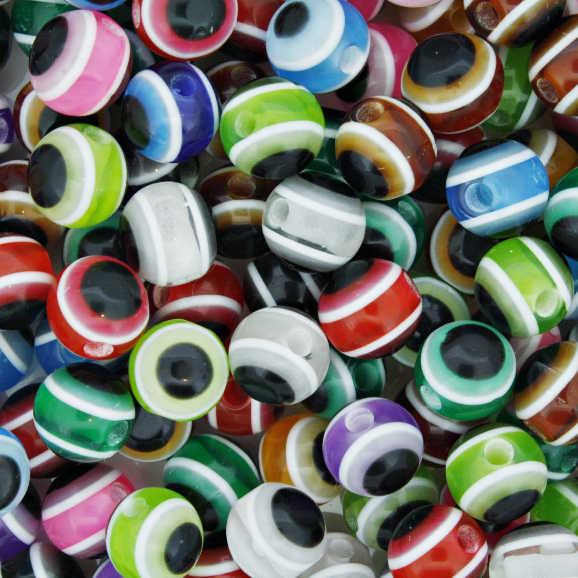 Bolinha - Olho Grego - Colorido - 8mm  - Stéphanie Bijoux® - Peças para Bijuterias e Artesanato