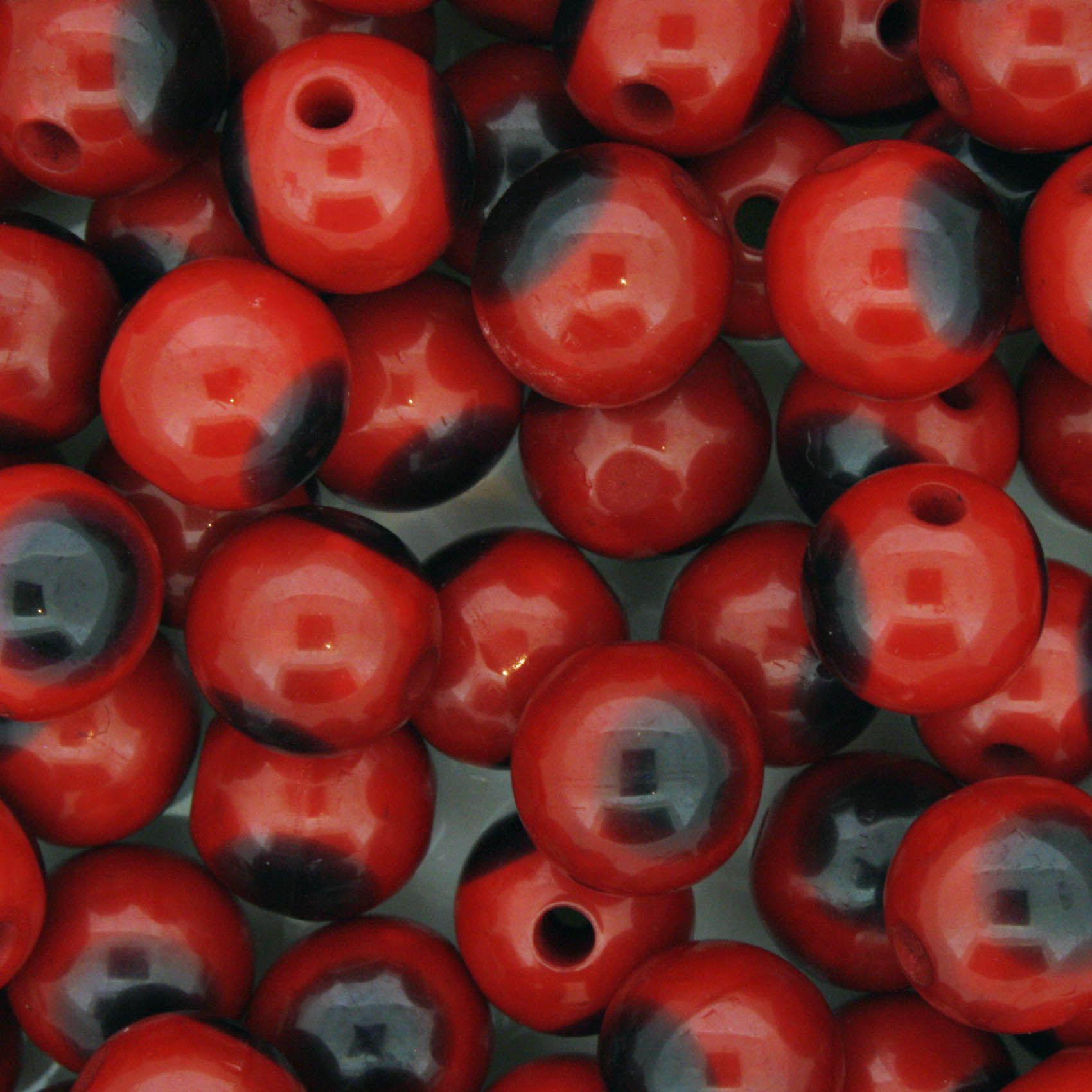 Bolinha - Olho Vermelho - 10mm  - Stéphanie Bijoux® - Peças para Bijuterias e Artesanato