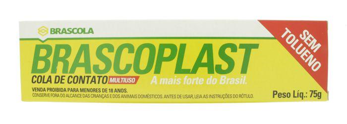 Brascoplast - Cola de Contato Multiuso - 75g   - Stéphanie Bijoux® - Peças para Bijuterias e Artesanato