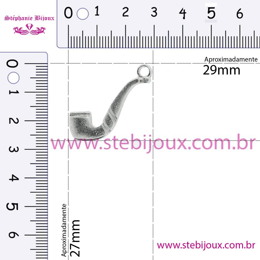 Cachimbo - Níquel - 27mm  - Stéphanie Bijoux® - Peças para Bijuterias e Artesanato