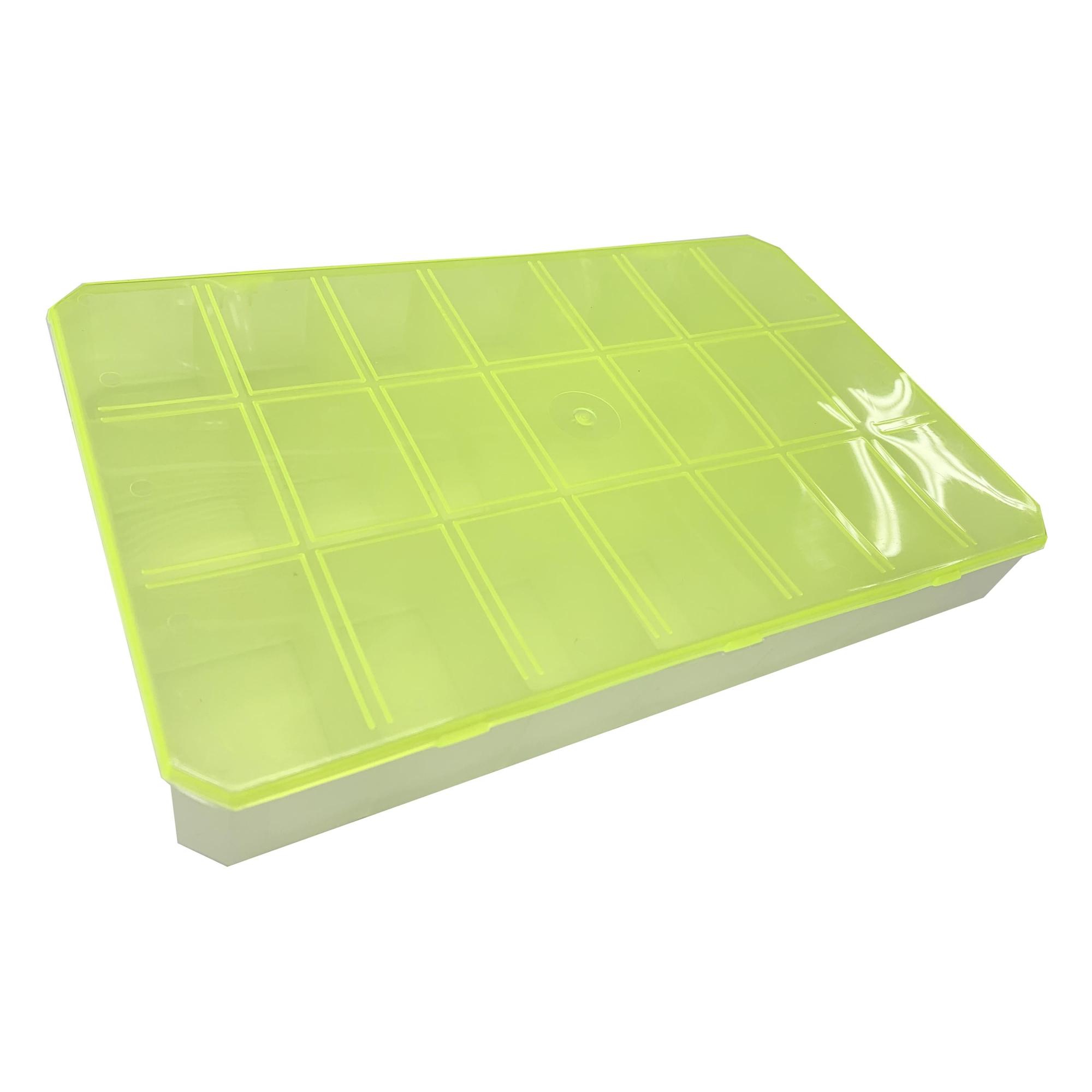 Caixa Organizadora - Amarela Transparente  - Stéphanie Bijoux® - Peças para Bijuterias e Artesanato