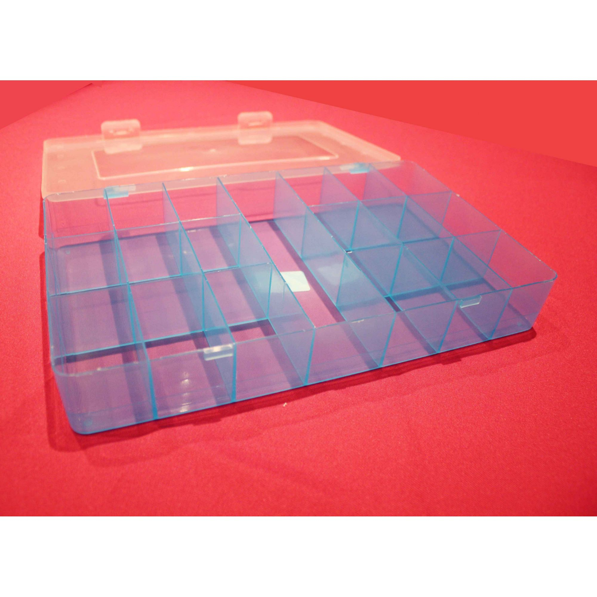 Caixa Organizadora - Azul - 30cm  - Stéphanie Bijoux® - Peças para Bijuterias e Artesanato