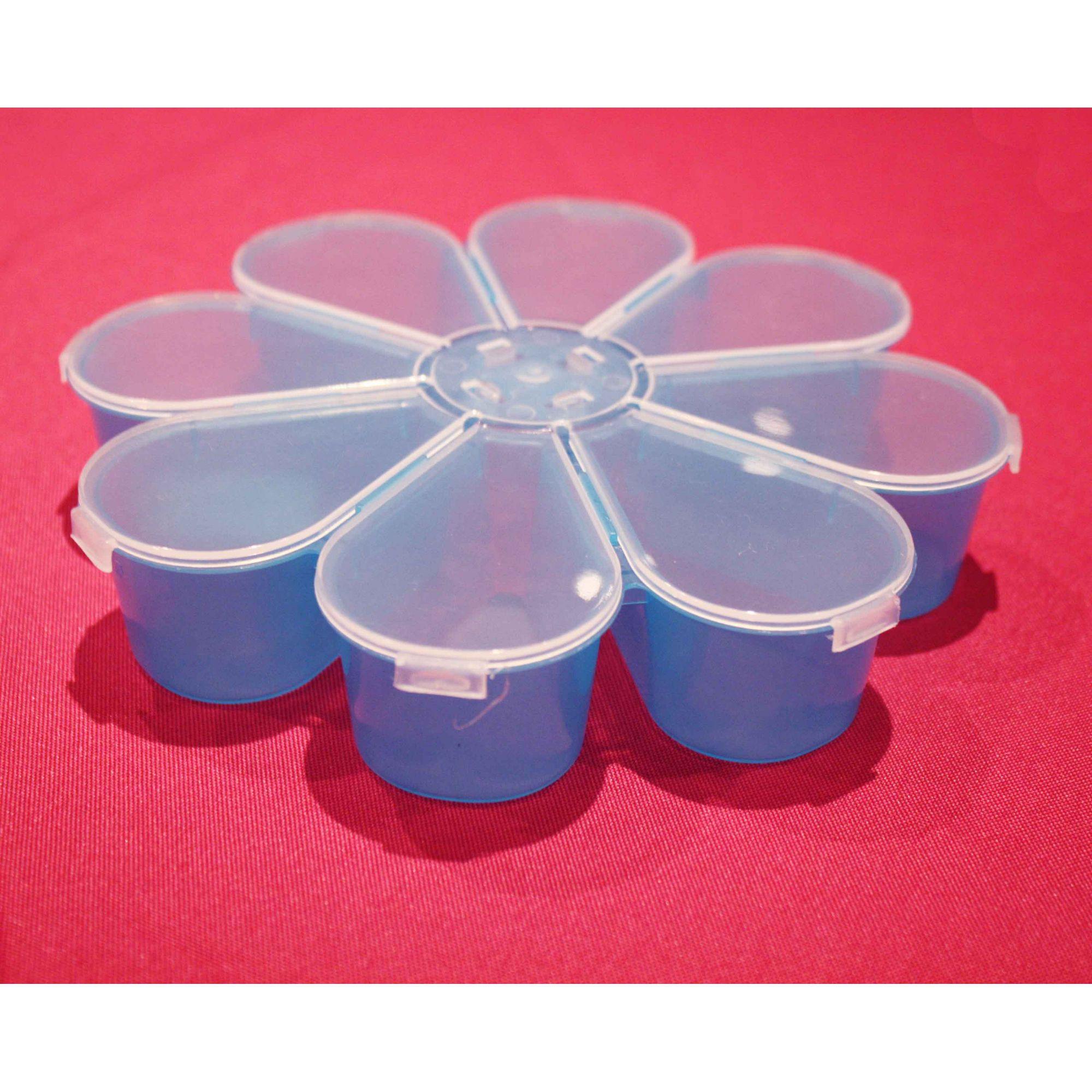 Caixa Organizadora - Flor Azul - 18cm  - Stéphanie Bijoux® - Peças para Bijuterias e Artesanato