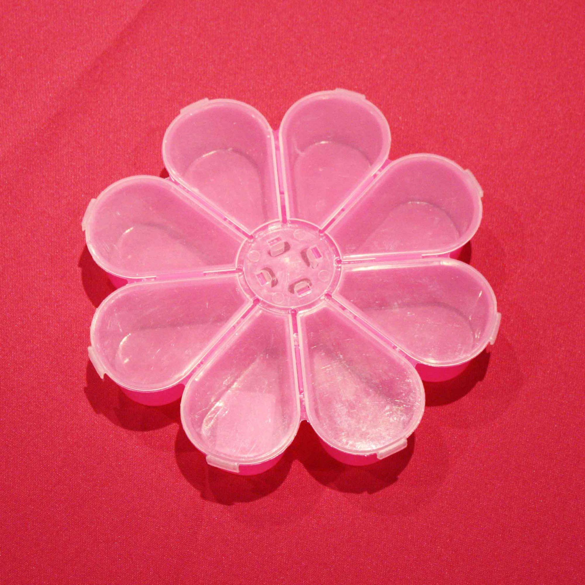Caixa Organizadora - Flor Rosa - 18cm  - Stéphanie Bijoux® - Peças para Bijuterias e Artesanato