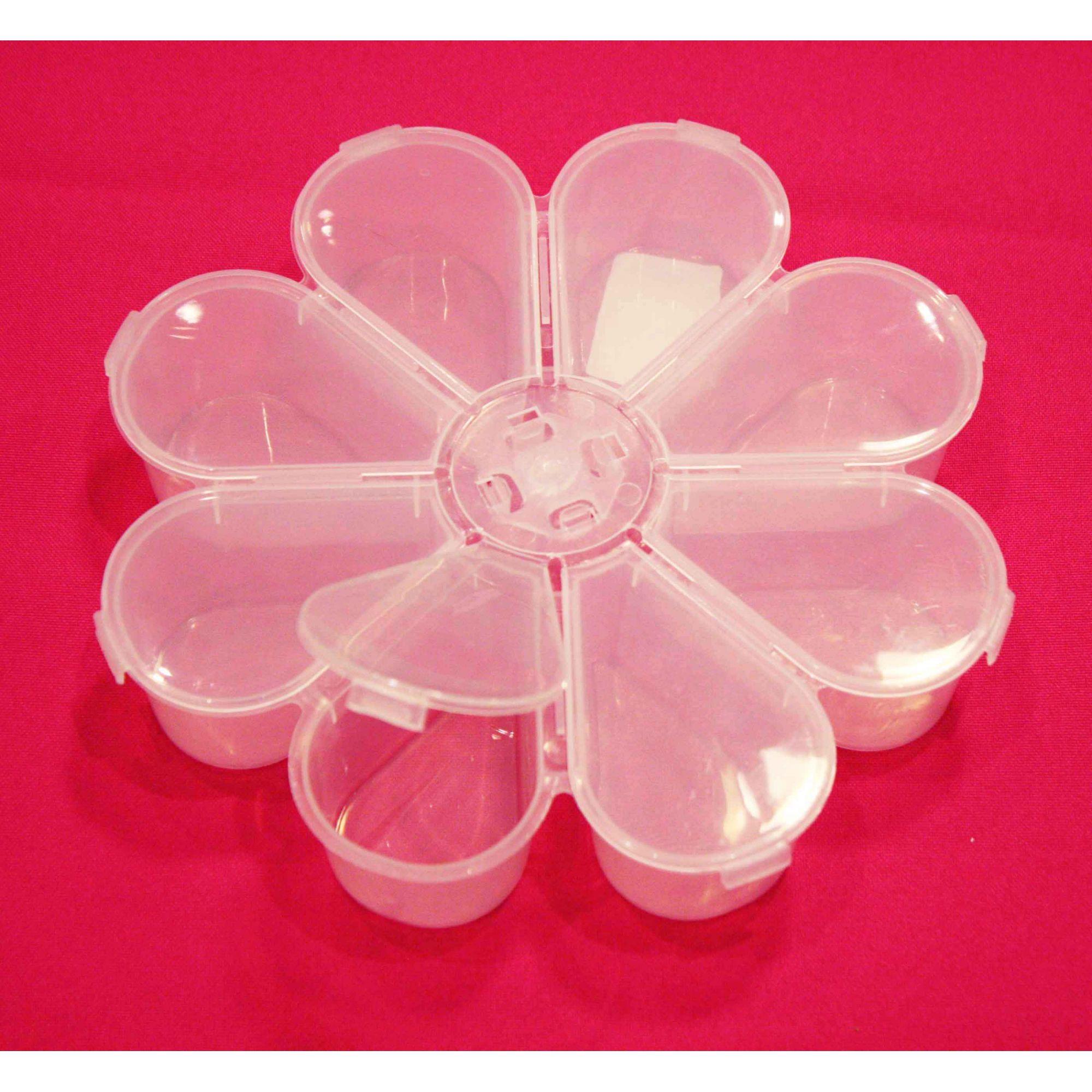 Caixa Organizadora - Flor Transparente - 18cm  - Stéphanie Bijoux® - Peças para Bijuterias e Artesanato