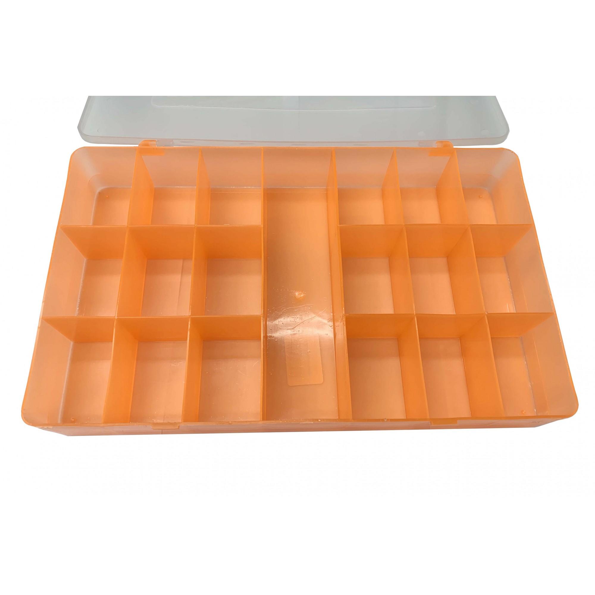 Caixa Organizadora - Laranja - 30cm  - Stéphanie Bijoux® - Peças para Bijuterias e Artesanato